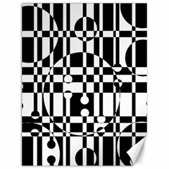 Black and white pattern Canvas 12  x 16