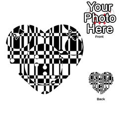 Black and white pattern Playing Cards 54 (Heart)