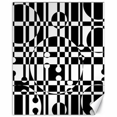Black and white pattern Canvas 11  x 14