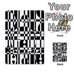Black and white pattern Multi-purpose Cards (Rectangle)