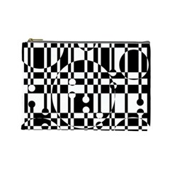 Black and white pattern Cosmetic Bag (Large)