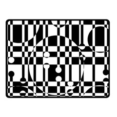 Black and white pattern Fleece Blanket (Small)