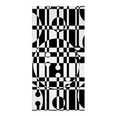 Black and white pattern Shower Curtain 36  x 72  (Stall)