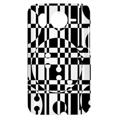 Black and white pattern HTC Desire HD Hardshell Case