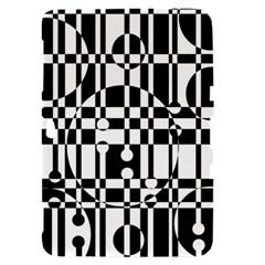 Black and white pattern Samsung Galaxy Tab 8.9  P7300 Hardshell Case