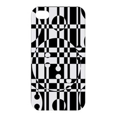 Black and white pattern Apple iPhone 4/4S Premium Hardshell Case
