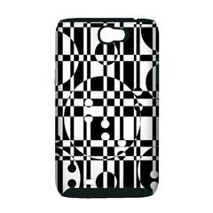 Black and white pattern Samsung Galaxy Note 2 Hardshell Case (PC+Silicone)