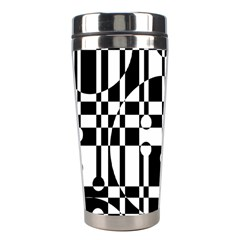 Black and white pattern Stainless Steel Travel Tumblers