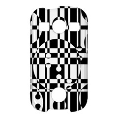 Black and white pattern Samsung Galaxy S7710 Xcover 2 Hardshell Case
