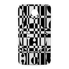 Black and white pattern Nexus 6 Case (White)