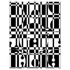 Black and white pattern Drawstring Bag (Large)