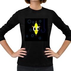 Yellow fish Women s Long Sleeve Dark T-Shirts