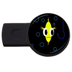Yellow fish USB Flash Drive Round (4 GB)