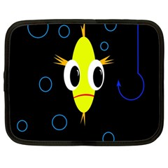 Yellow fish Netbook Case (Large)