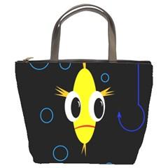 Yellow fish Bucket Bags