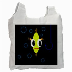 Yellow fish Recycle Bag (One Side)
