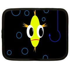 Yellow fish Netbook Case (XXL)
