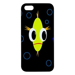 Yellow fish iPhone 5S/ SE Premium Hardshell Case