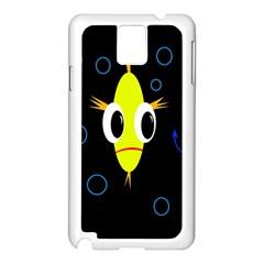 Yellow fish Samsung Galaxy Note 3 N9005 Case (White)