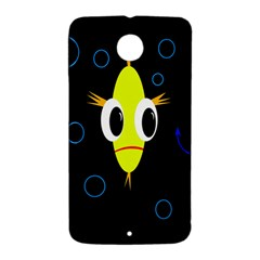 Yellow fish Nexus 6 Case (White)