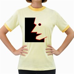 Man Women s Fitted Ringer T-Shirts