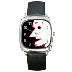 Man Square Metal Watch