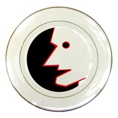Man Porcelain Plates