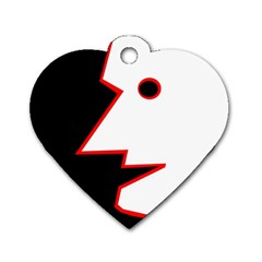 Man Dog Tag Heart (One Side)