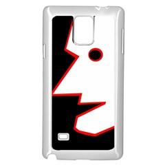 Man Samsung Galaxy Note 4 Case (White)