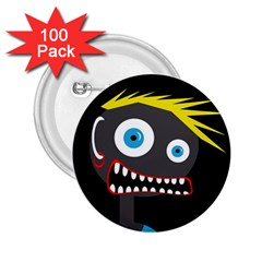 Crazy man 2.25  Buttons (100 pack)