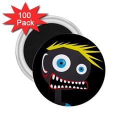 Crazy man 2.25  Magnets (100 pack)