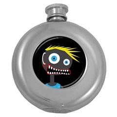 Crazy man Round Hip Flask (5 oz)