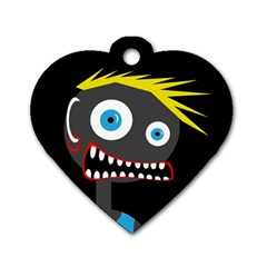 Crazy man Dog Tag Heart (One Side)