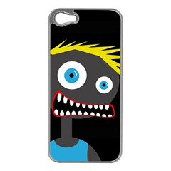 Crazy man Apple iPhone 5 Case (Silver)