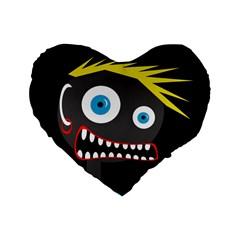 Crazy man Standard 16  Premium Heart Shape Cushions