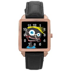 Crazy man Rose Gold Leather Watch