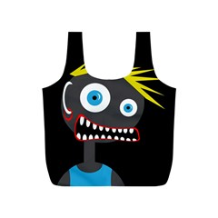 Crazy man Full Print Recycle Bags (S)