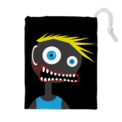 Crazy Man Drawstring Pouches (extra Large)