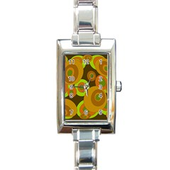 Brown pattern Rectangle Italian Charm Watch