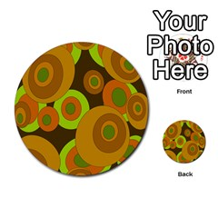Brown pattern Multi-purpose Cards (Round)
