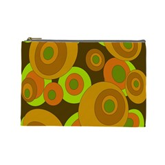 Brown pattern Cosmetic Bag (Large)