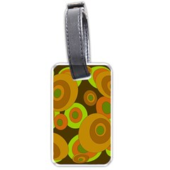 Brown pattern Luggage Tags (Two Sides)