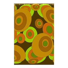 Brown pattern Shower Curtain 48  x 72  (Small)