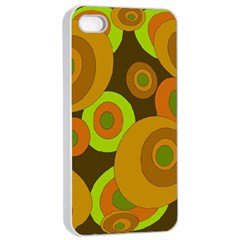 Brown pattern Apple iPhone 4/4s Seamless Case (White)