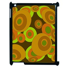 Brown pattern Apple iPad 2 Case (Black)