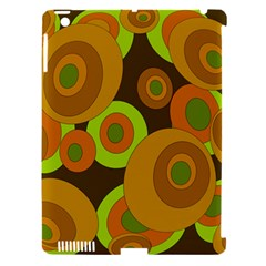 Brown pattern Apple iPad 3/4 Hardshell Case (Compatible with Smart Cover)