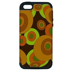 Brown pattern Apple iPhone 5 Hardshell Case (PC+Silicone)