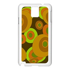 Brown pattern Samsung Galaxy Note 3 N9005 Case (White)