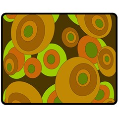 Brown pattern Double Sided Fleece Blanket (Medium)