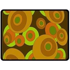 Brown pattern Double Sided Fleece Blanket (Large)